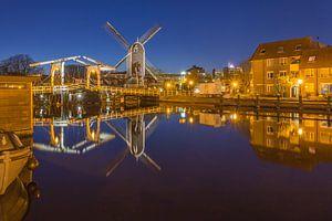 Leiden by Night - Molen de Put en Rembrandtbrug - 1