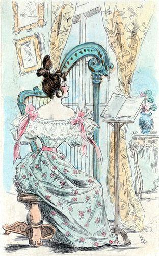 Mode 1832, Mode in het negentiende-eeuwse Parijs, Henri Boutet, (1851 1919) van