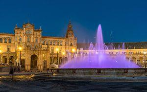 Plaza de España in Sevilla van