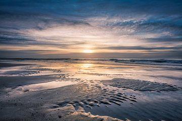 Noordzee sunset van eric van der eijk