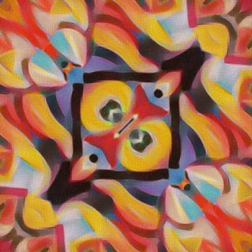 Abstrakt in rot gelb blau schwarz von Maurice Dawson
