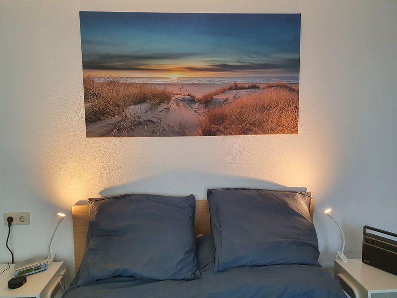 Photo de nos clients: Paal 17 Texel zonsondergang sur Texel360Fotografie Richard Heerschap, sur toile