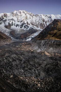Annapurna met gletsjer  van
