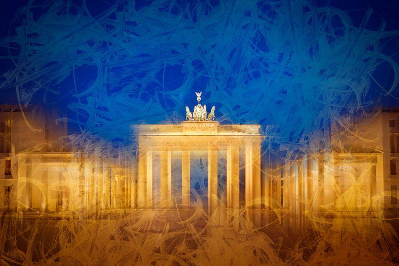 Modern Art BERLIN Brandenburg Gate van Melanie Viola