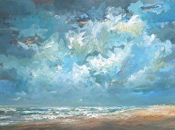 Noordzee kust serie #76 van wim van de wege