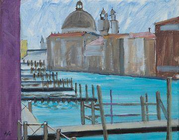 Kanal von Venedig. von Antonie van Gelder Beeldend kunstenaar