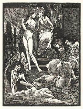 fantastische vrouwenfiguren, Johannes Josephus Aarts  (1897) van Atelier Liesjes