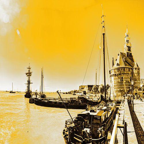 Hoorn Haven Noord-Holland Nederland Goud