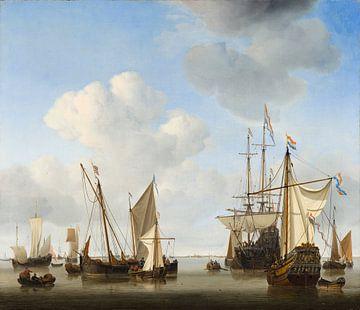 Schepen op de rede, Willem van de Velde de Jonge sur