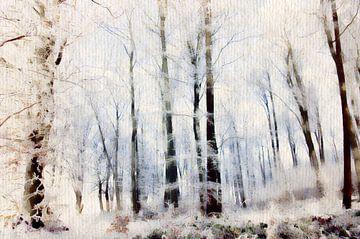 Winter in het loofbos van Tanja Riedel