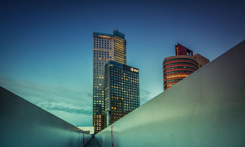 Maastoren in Rotterdam van Ilya Korzelius