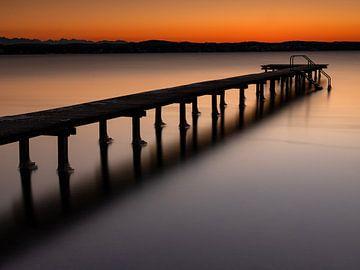 Ambiance de soirée au lac Starnberg sur Andreas Müller