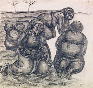 Drei Kartoffelweiber, ELFRIEDE LOHSE-WÄCHTLER, 1931