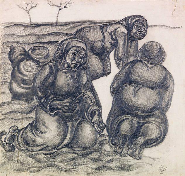 Drei Kartoffelweiber, ELFRIEDE LOHSE-WÄCHTLER, 1931 von Atelier Liesjes
