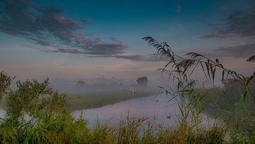 Paysage brumeux primitif hollandais sur Karen de Geus