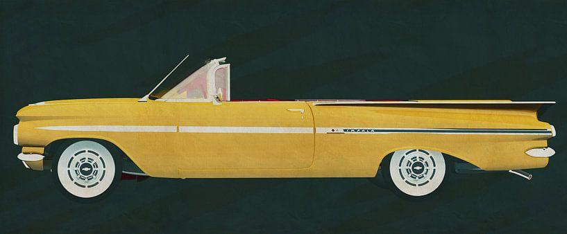 De Chevrolet Impala cabriolet 1959 van Jan Keteleer