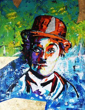 "Charlie Chaplin ""Gold"" van Kathleen Artist Fine Art"