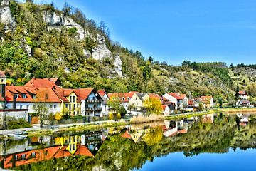 Uitzicht vanaf de brug Kallmünz van Roith Fotografie