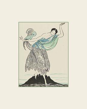 Exotisch - Historischer Modedruck | Art Deco Modedruck | historische Werbung von NOONY