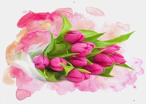 Spring greetings in pink