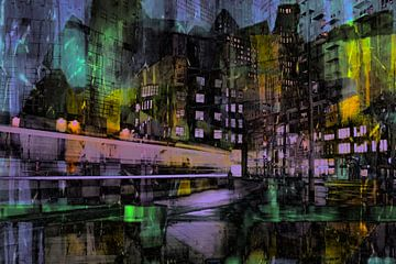 Nuit à La Haye, Pays-Bas sur Carla van Zomeren