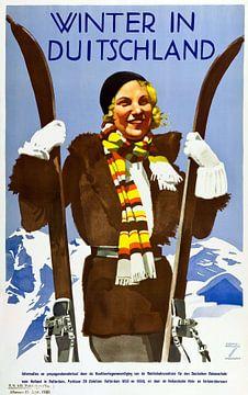 Winter in Duitsland poster van Atelier Liesjes