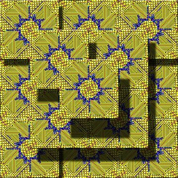 Abstract digitaal werk van Ton Kuijpers