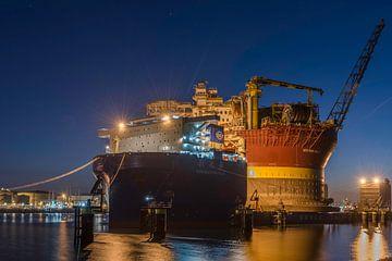 Olieplatform Rotterdam van Dick van der Wilt