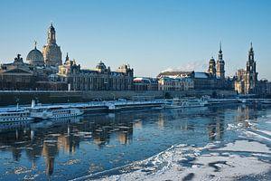Dresden at wintertime van