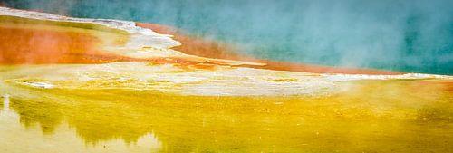 Abstract, geothermisch landschap