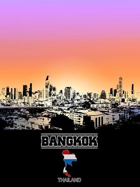 Bangkok van Printed Artings