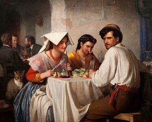 In einer römischen Osteria, Carl Bloch