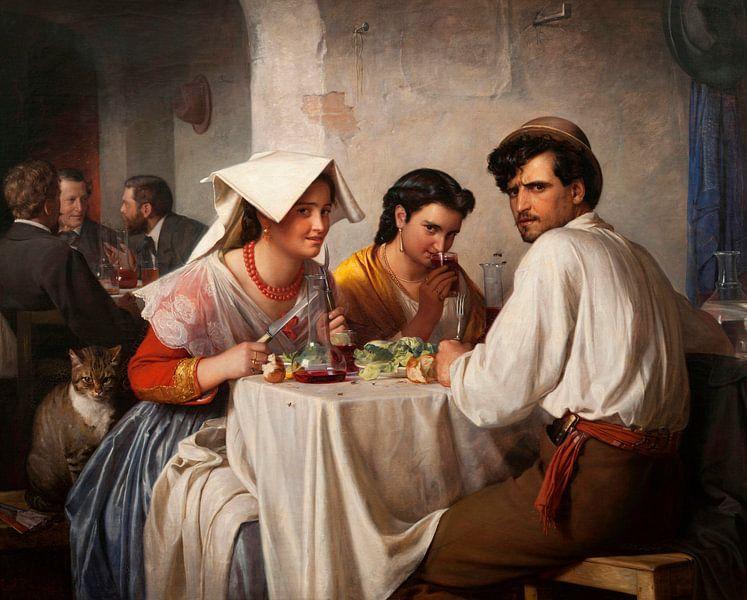 In einer römischen Osteria, Carl Bloch von Meesterlijcke Meesters