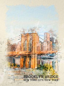 Brooklyn Bridge van Printed Artings