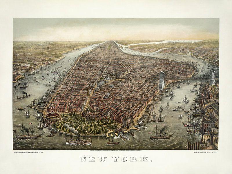 New York im Vogelfeuer - 1873 von Bibliotheek Beeld