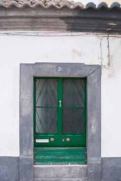 De deuren van Portugal groen met grijze rand nummer 3 van Stefanie de Boer