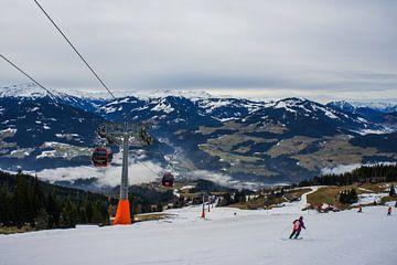 Oostenrijkse bergen in de winter van Remco de Zwijger