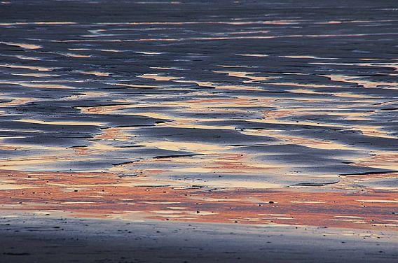Zonsondergang strand Houlgate Normandie III