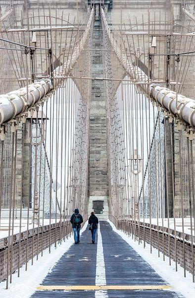 Brooklyn Bridge Walk New York van Inge van den Brande