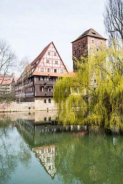 Watertoren en Weinstadl in historisch Neurenberg van ManfredFotos