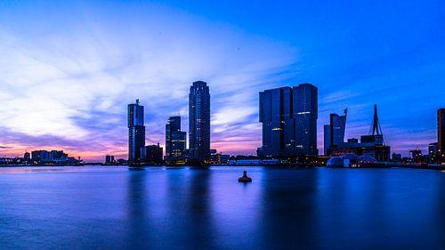 Rotterdam by night von Matthijs de Rooij