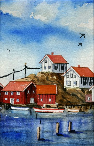 Island skärgård van Thomas Suske