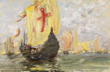 Francis Hopkinson Smith (Amerikaner, 1838-1915)~Szene einer Regatta, Venedig