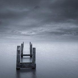 Terschelling kust in zwart wit van Sander Grefte