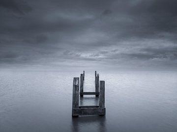 Terschelling-Küste in Schwarz-Weiß von Sander Grefte