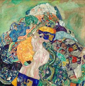Gustav Klimt. Kind  in wiegje van