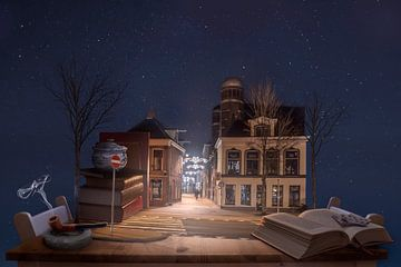Stilleven en straat (Escher inspiratie) van Elianne van Turennout