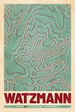 Watzmann | Kaart Topografie (Retro) van ViaMapia