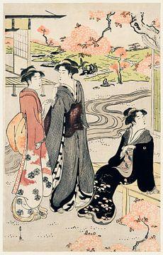 Japanische Frau im Kimono von Eishi Hosoda von Studio POPPY