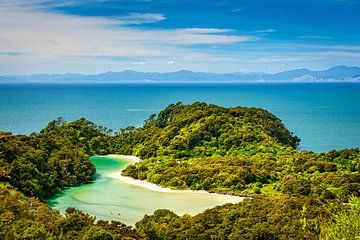 Lagoon Abel Tasman NP, Neuseeland von Rietje Bulthuis